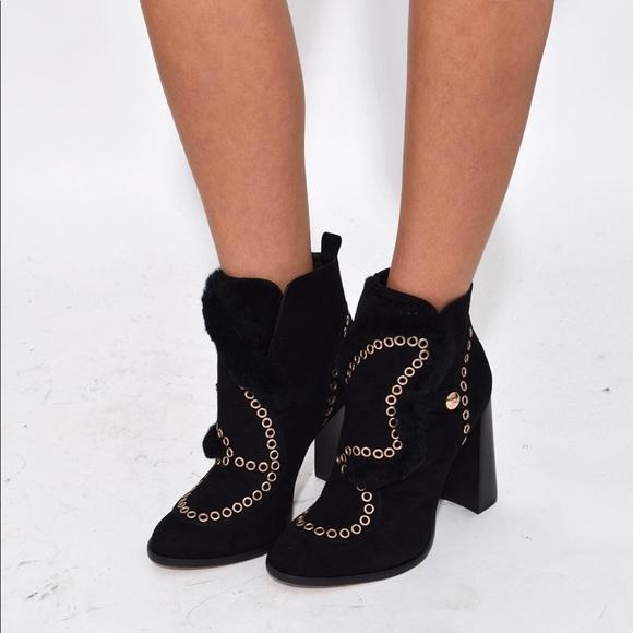 eb3c467e264 Sophia Webster Women s Karina Fur Ankle Boot